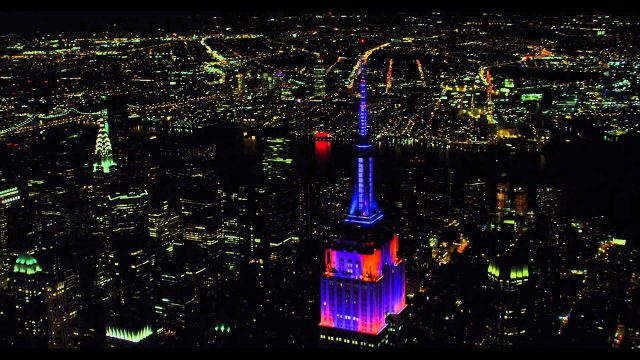 Empire State Building Steely Dan Light Show
