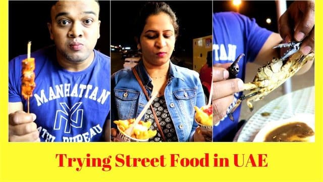 Trying street food in Fujairah