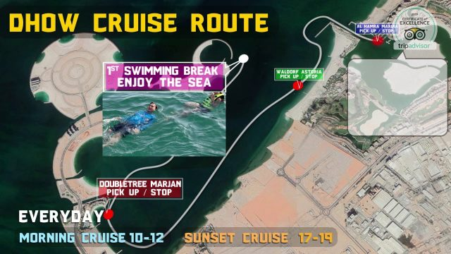 Dhow Cruise Route